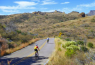 Arizona bike tour cyclists on a quiet and beautiful road
