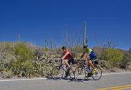 Arizona Bike Tour cyclists west of Tucson