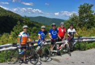 Smiles at the top of App Gap during the Vermont Bike & Brew Tour