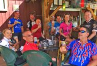 Post ride brews on the Vermont Bike & Brewery Tour