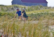 Provincetown cyclists during a Cape Cod bike tour