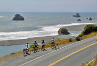 California wine country bike tour cyclists on the Sonoma Coast