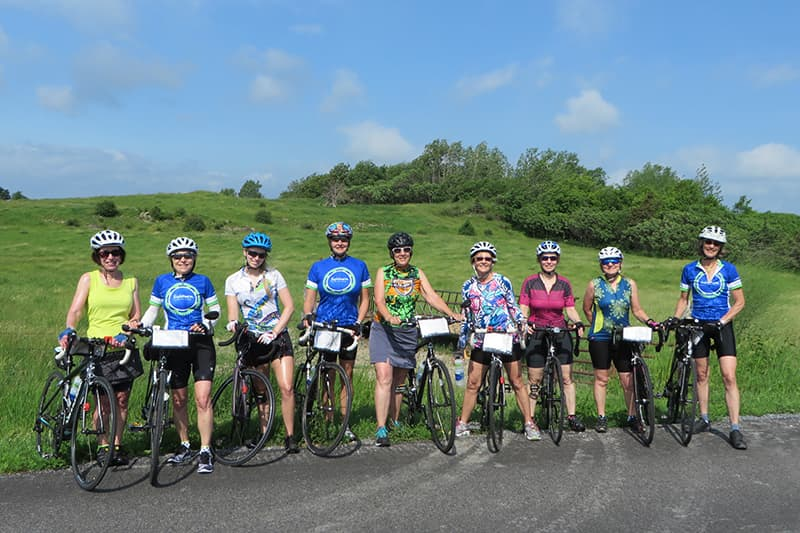 womens bicycle tour