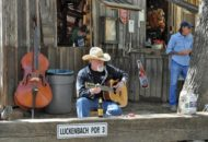 Guitar player in Luckenbach Texas