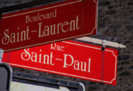 Montreal street sign