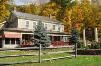 Waybury Inn lodging on Vermont Fall Foliage bike tours