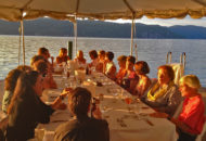 women's bike tour weeknd dinner on lake champlain