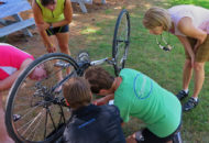 bike repair tips during women's weekend bike tour