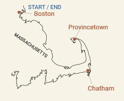 Cape Cod, Massachusetts Bike Tour Map