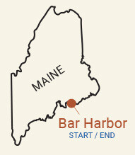Maine: Acadia National Park & Bar Harbor Bike Tour Map