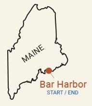 Maine: Acadia National Park & Bar Harbor Bike Tour Map