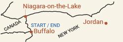 Canada: Niagara Wine Country Bike Tour Map