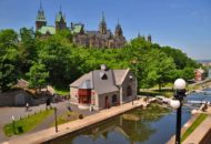 Ottawa bike path along the Rideau Canal