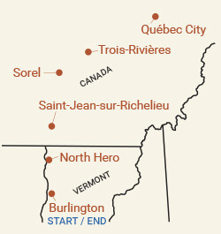 Canada: Québec City Bike Tour Map