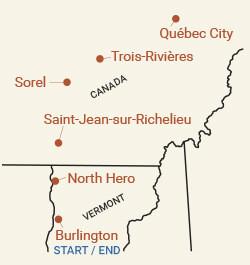 Canada: Québec City Bike Tour Map