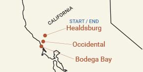 California: Sonoma Wine Country & Coast Bike Tour