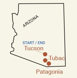 Arizona: Sonoran Desert & Saguaro National Park Bike Tour Map
