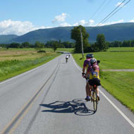 A typical day on a Sojourn bike tour - 9:40am