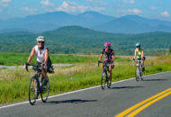 road cyclists during women's weekend bike tour