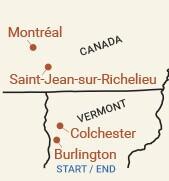 Canada: Montreal Bike Tour Map