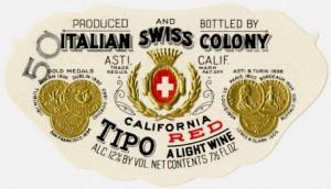Italian Swiss Colony Wine Label
