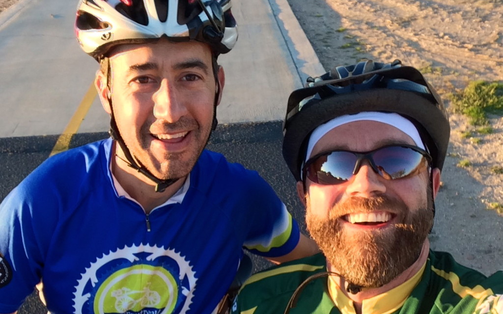 Josh and I raced the setting sun to get in some miles on Sojourn's new Cannondales
