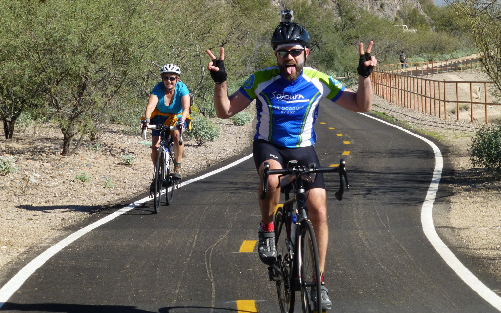 I have the best job ever! Riding the bikeways of Tucson