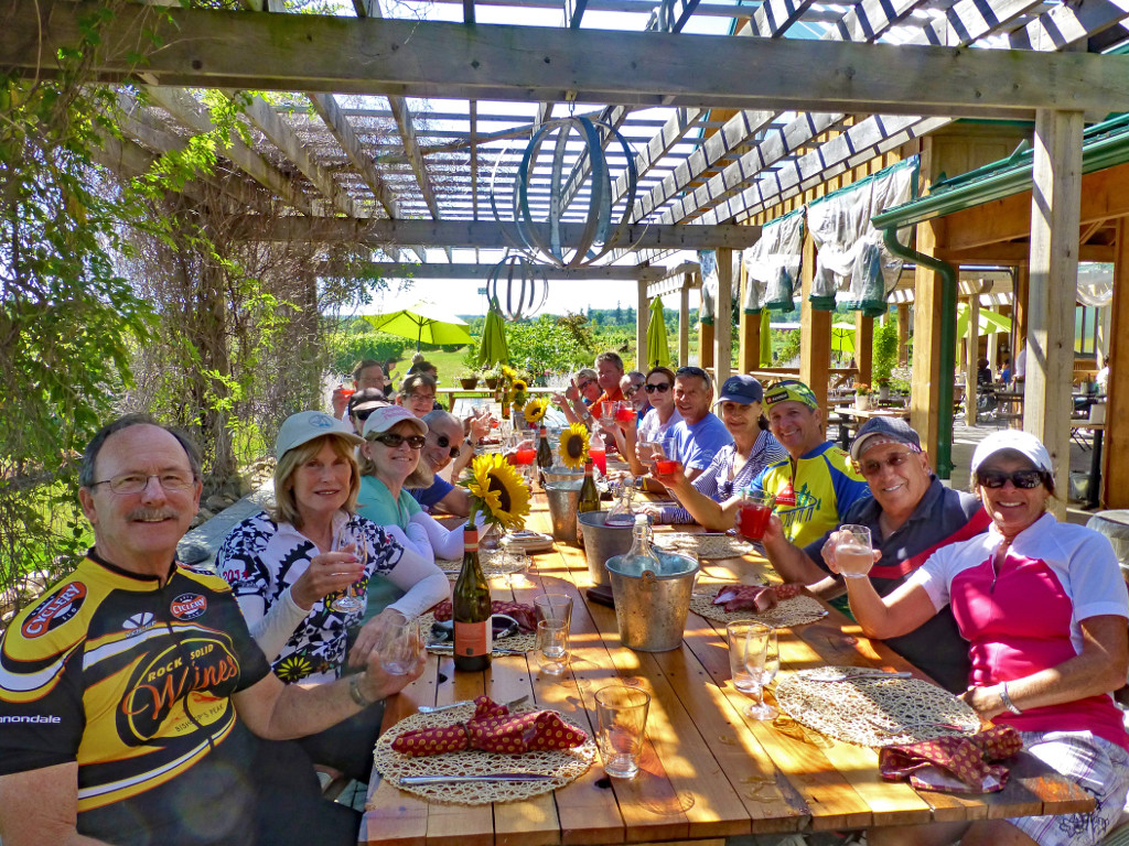 Sojourn guests enjoying a wine country tour of Ontario Niagara wine country