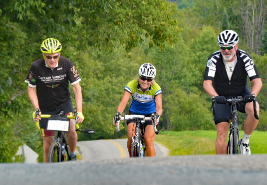 Sojourn cyclists during a Vermont Bike and Brew Tour