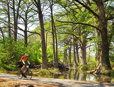 Sojourn bike tours bicycling active vacations for Winter vacation spots in texas