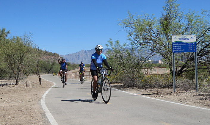 Bibi on our Arizona Bike Tour