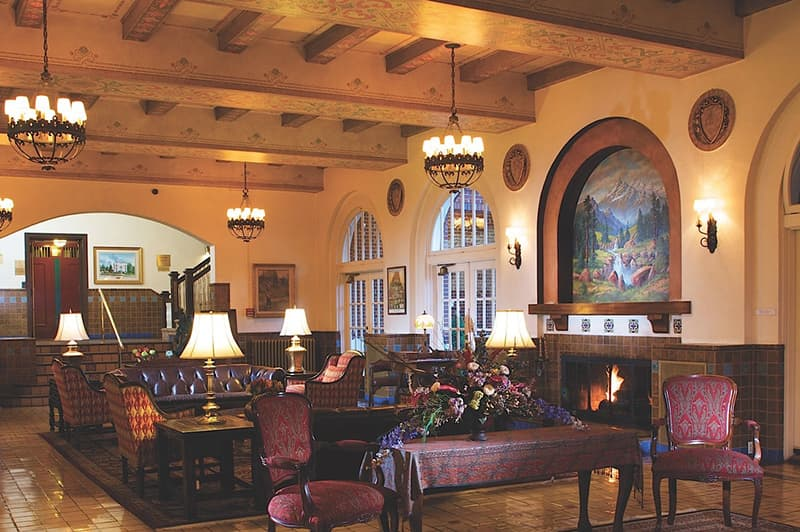 Lobby at the Hassayampa Inn, Prescott, AZ.