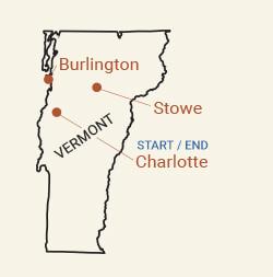 Pro Tennis Tournament & Bike Trip in Vermont - Bike Tour Map