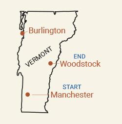 Southern Vermont Bike Tour Map