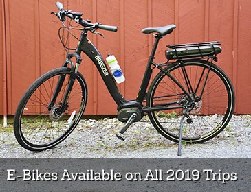 E-Bike's Available on All 2019 Trips